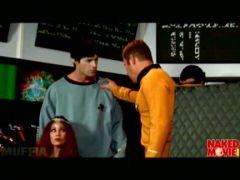 Mr. Spock lässt sich den Schwanz blasen